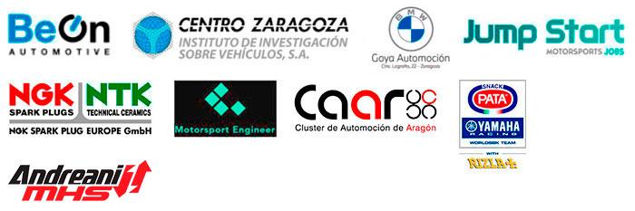 Logos empresas colaboradoras con el Máster en Ingeniería del Motorsport